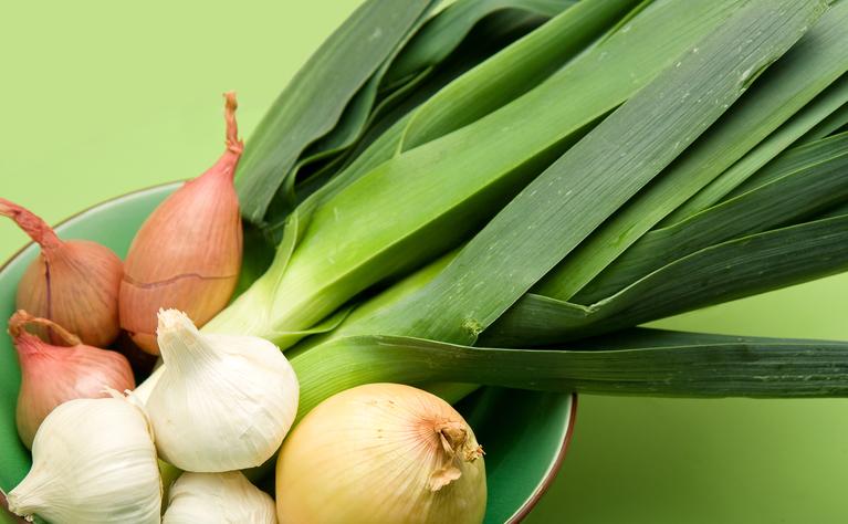 Gas producing foods - onions, garlics and leeks