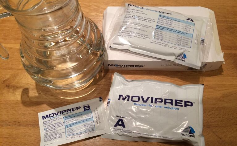 Bowel prep for colonoscopy. This brand is Moviprep